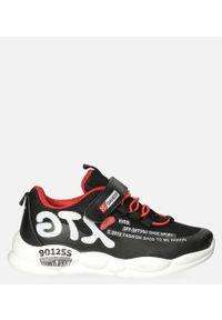 Casu - Czarne buty sportowe na rzep casu 204/9m. Zapięcie: rzepy. Kolor: czarny