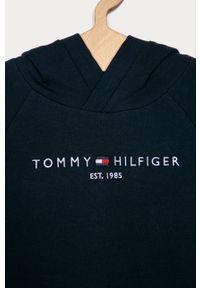 Niebieska sukienka TOMMY HILFIGER z długim rękawem, z aplikacjami