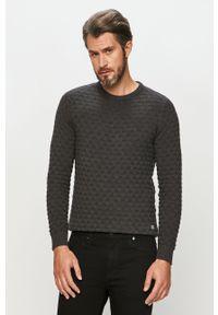 Szary sweter Jack & Jones z długim rękawem, długi, na co dzień, casualowy
