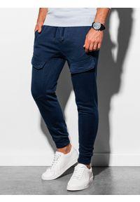 Niebieskie spodnie Ombre Clothing #6