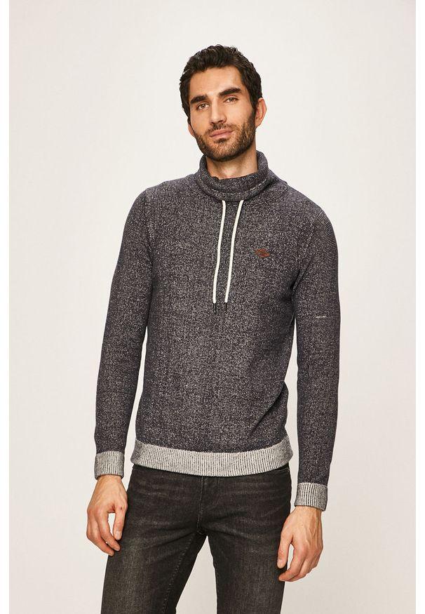 Niebieski sweter PRODUKT by Jack & Jones na co dzień, casualowy, melanż, z golfem