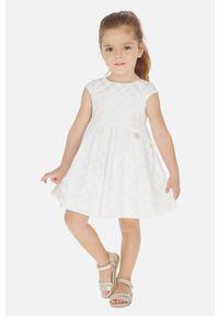 Biała sukienka Mayoral mini, rozkloszowana