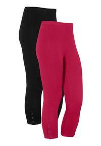Cellbes Rybaczki z guzikami 2 Pack czerwonoróżowy Czarny female czerwony/różowy/czarny 46/48. Kolor: wielokolorowy, czerwony, różowy, czarny. Materiał: jersey, guma