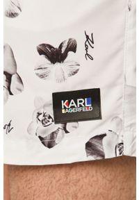 Białe kąpielówki Karl Lagerfeld