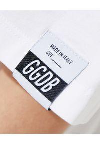 GOLDEN GOOSE - Luźna koszulka z grafiką. Kolor: biały. Materiał: bawełna. Długość: długie. Wzór: nadruk, aplikacja