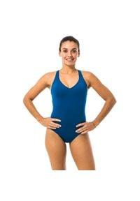NABAIJI - Strój Jednoczęściowy Pływacki Pearl Damski. Kolor: turkusowy, niebieski, wielokolorowy. Materiał: materiał