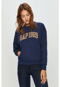 Niebieska bluza GAP z długim rękawem, na co dzień