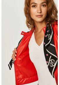 Czerwona kurtka Guess Jeans na co dzień, bez kaptura, casualowa #7