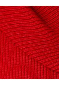 Czerwona sukienka Alexander McQueen na co dzień, na zimę, casualowa