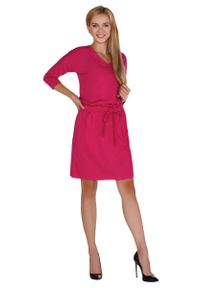 Różowa sukienka Merribel z dekoltem w serek