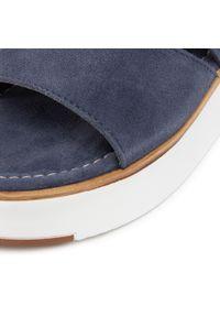 Niebieskie sandały Marco Tozzi casualowe, na co dzień