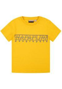 Żółty t-shirt Napapijri