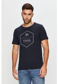 Niebieski t-shirt s.Oliver casualowy, z okrągłym kołnierzem, na co dzień