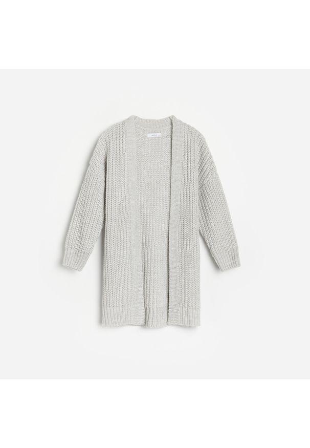 Szary sweter Reserved długi