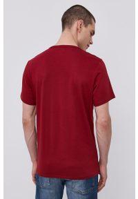 Calvin Klein Underwear - T-shirt piżamowy. Kolor: czerwony. Materiał: dzianina