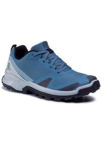 Niebieskie buty trekkingowe salomon trekkingowe, z cholewką