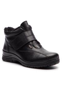 Czarne botki Comfortabel z cholewką