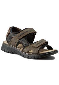 Brązowe sandały Rieker klasyczne, na lato, na co dzień