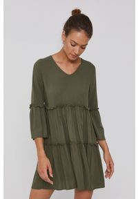 Jacqueline de Yong - Sukienka. Kolor: zielony. Materiał: tkanina