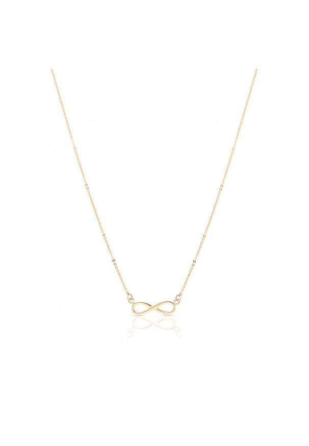 Złoty naszyjnik W.KRUK w ażurowe wzory, z brylantem, złoty
