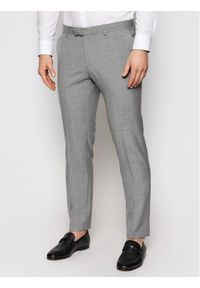 Szare spodnie garniturowe Oscar Jacobson