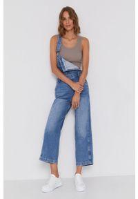 Pepe Jeans - Ogrodniczki Shay Indygo. Stan: podwyższony. Kolor: niebieski