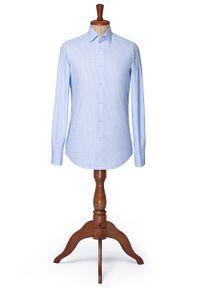 Niebieska koszula Lancerto na lato, vintage, button down