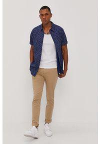 Beżowe spodnie Levi's® biznesowe, gładkie, na spotkanie biznesowe