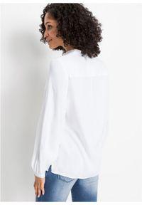Biała bluzka bonprix ze stójką