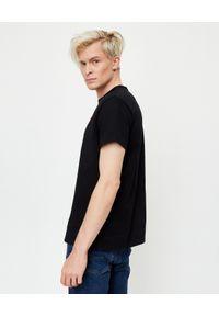 Ralph Lauren - RALPH LAUREN - Czarny t-shirt Regular Fit. Okazja: na co dzień. Typ kołnierza: polo. Kolor: czarny. Materiał: bawełna. Wzór: haft. Styl: klasyczny, casual