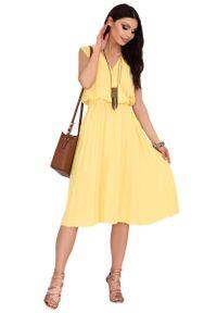 Żółta sukienka Merribel kopertowa