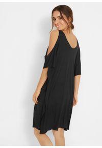 Sukienka plażowa z wycięciami bonprix czarny. Okazja: na plażę. Kolor: czarny