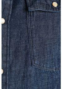 Niebieska koszula G-Star RAW z klasycznym kołnierzykiem, długa