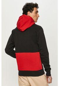 Czarna bluza nierozpinana Jordan z nadrukiem, z kapturem, casualowa, na co dzień