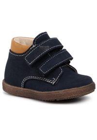 RenBut - Trzewiki RENBUT - 13-1447 Granat. Kolor: niebieski. Materiał: skóra, nubuk. Szerokość cholewki: normalna. Sezon: zima, jesień