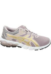 Szare buty do biegania Asics w kolorowe wzory, z cholewką