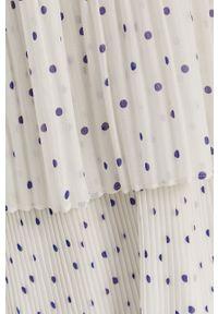 Samsoe & Samsoe - Samsoe Samsoe - Sukienka. Kolor: biały. Materiał: tkanina, poliester. Długość rękawa: na ramiączkach. Typ sukienki: plisowane, rozkloszowane #4