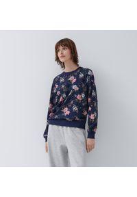 House - Wzorzysta bluza z kwiatowym motywem - Wielobarwny. Wzór: kwiaty