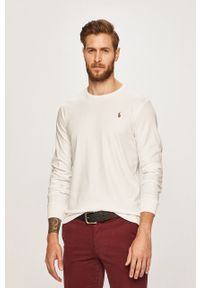 Biała koszulka z długim rękawem Polo Ralph Lauren na co dzień, polo