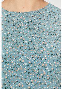 Niebieska sukienka Answear Lab w kwiaty, mini