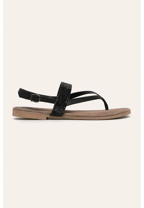 Czarne sandały Marco Tozzi na klamry