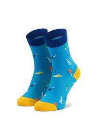 Niebieskie skarpetki Dots Socks w kolorowe wzory