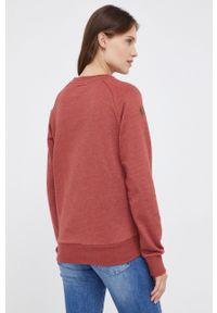 Pepe Jeans - Bluza Priscila. Okazja: na co dzień. Kolor: czerwony. Długość rękawa: raglanowy rękaw. Wzór: aplikacja. Styl: casual
