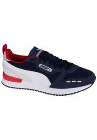 Niebieskie sneakersy Puma z cholewką