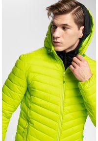 Zielona kurtka 4f na zimę, z kapturem