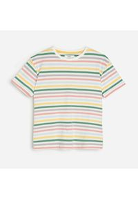 Kremowy t-shirt Reserved w paski