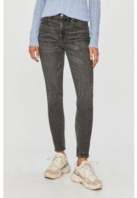 Szare jeansy Polo Ralph Lauren z podwyższonym stanem