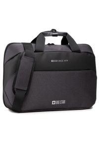 Big-Star - Torba na laptopa BIG STAR - HH574048 Black. Kolor: szary. Materiał: materiał