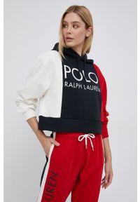 Polo Ralph Lauren - Bluza. Typ kołnierza: polo. Materiał: dzianina. Wzór: nadruk