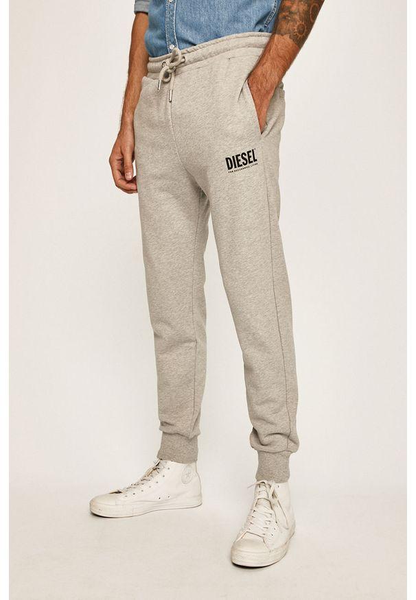 Szare spodnie dresowe Diesel melanż